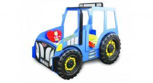 Blå traktor seng